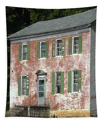 Green Town Tapestry
