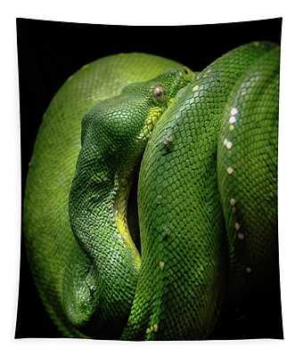 Green Tree Boa Tapestry