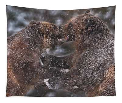 Grizzly Bears Tapestry