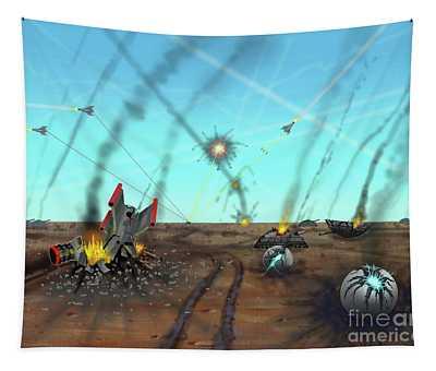 Ground Battle Tapestry