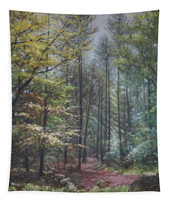Group Of Trees In The New Forest. Tapestry