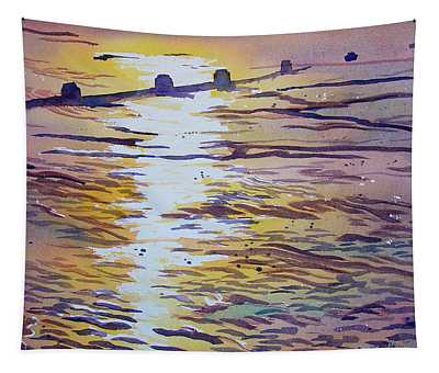 Groynes And Glare Tapestry