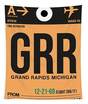 Grr Grand Rapids Luggage Tag I Tapestry