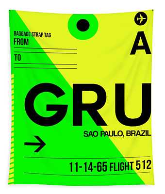 Gru Sao Paulo Luggage Tag I Tapestry