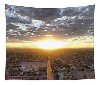 Guadalupe Sunset Tapestry