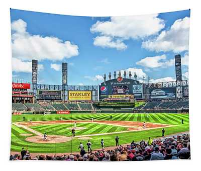 Guaranteed Rate Field Chicago White Sox Baseball Ballpark Stadium Tapestry