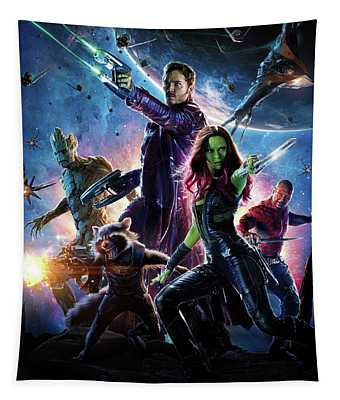 Guardians Of The Galaxy Textless Poster Tapestry