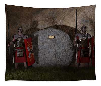 Guarding The Tomb Tapestry