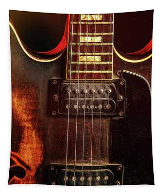 Guitar By Gibson Wall Art 1744.27 Tapestry