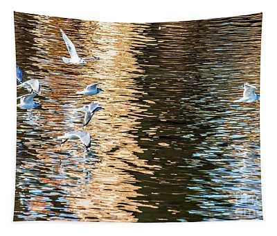 Gulls Over Reflections Tapestry