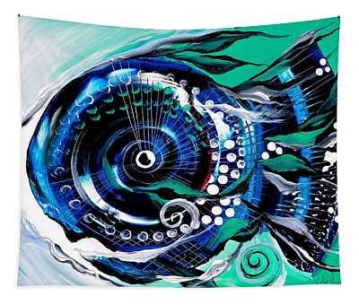 Half-smile, Break The Ice Fish Tapestry