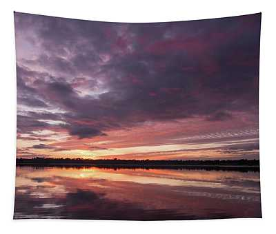 Halifax River Sunset Tapestry