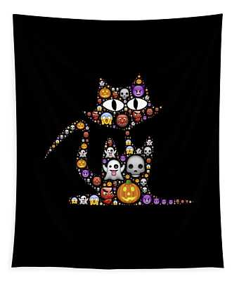 Halloween Cat Tapestry