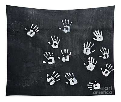 Hand Prints Tapestry