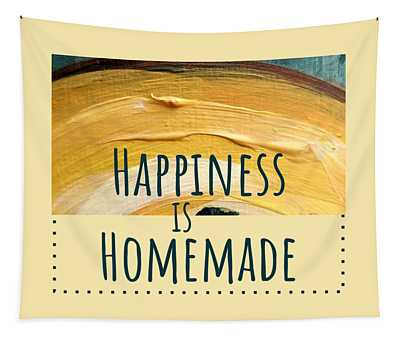 Tapestry featuring the painting Happiness Is Homemade #2 by Maria Langgle