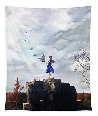 Happiness Released Tapestry