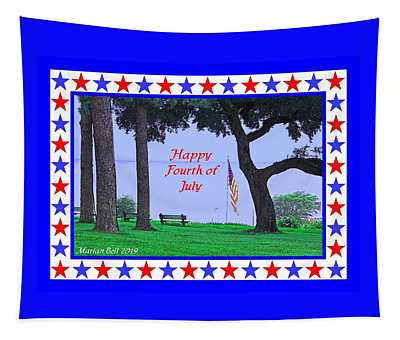 Happy Fourth Of July - A Scene From Fairhope Alabama Tapestry