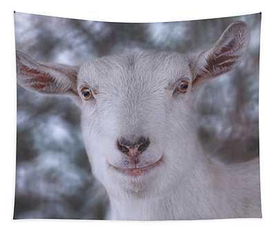 Happy Goat  Tapestry