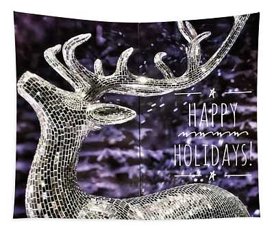 Happy Holiday Sparkle Tapestry