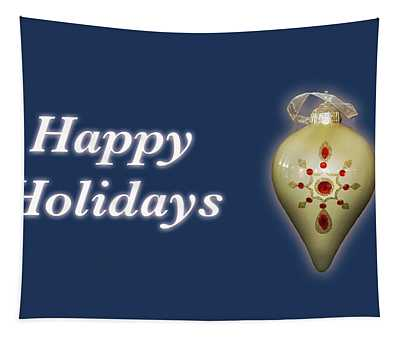 Happy Holidays Ornament Blue Tapestry