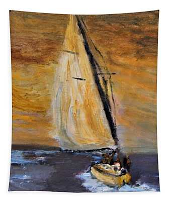 Happy Sails To You Tapestry