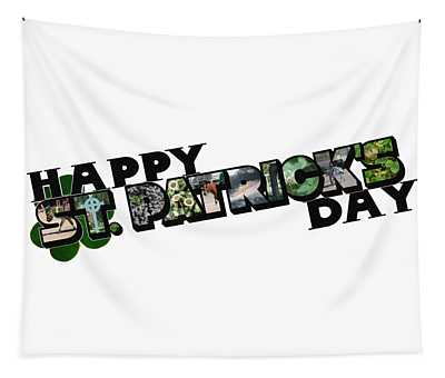 Happy St. Patrick's Day Big Letter Tapestry