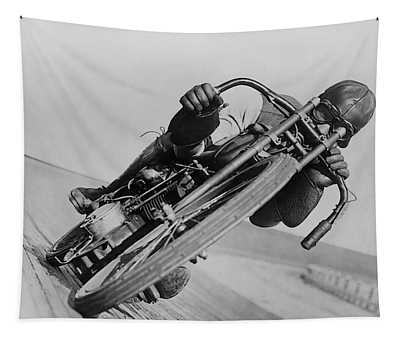 Harley Davidson - Leaning Hard Tapestry