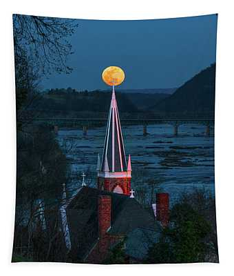 Harpers Ferry Moonrise Tapestry
