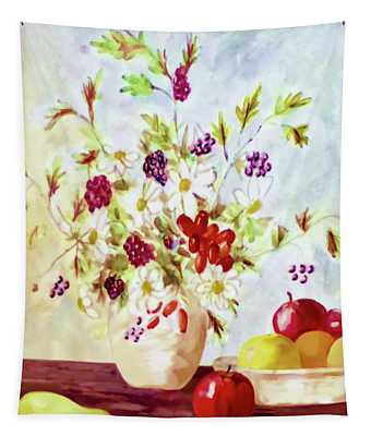 Harvest Time-still Life Painting By V.kelly Tapestry