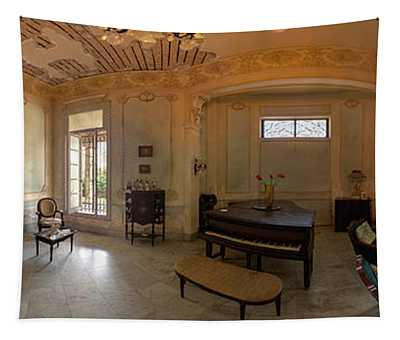 Havana Mansion Pano Tapestry