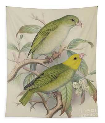 Hawaiian Honeycreeper Tapestry