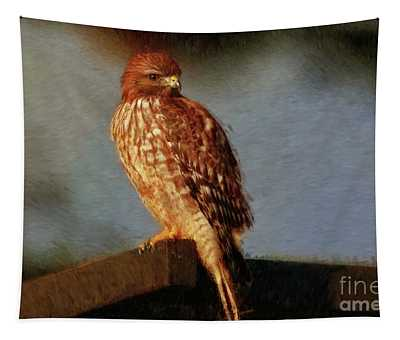 Hawk Art Tapestry