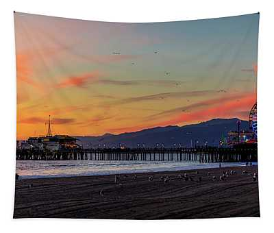 Heading Home At Dusk Tapestry