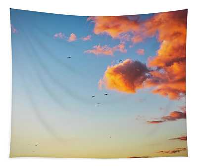 Heading Home Into The Sunset Tapestry
