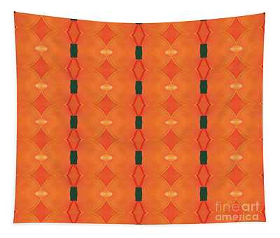 Healing In Orange And Green Tapestry