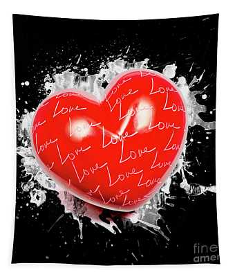 Heart Art Tapestry