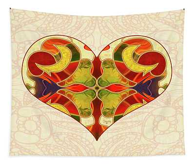 Heart Illustration - Creating Passionate Experience - Omaste Witkowski Tapestry