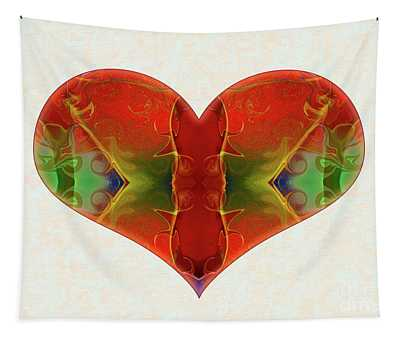Heart Painting - Vibrant Dreams - Omaste Witkowski Tapestry