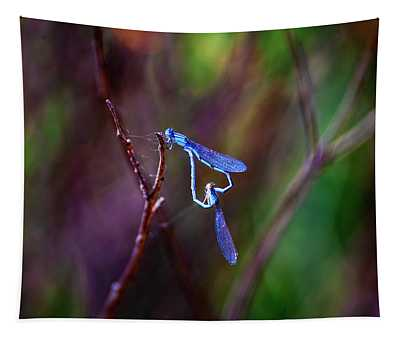 Heart Of Dragonfly Tapestry