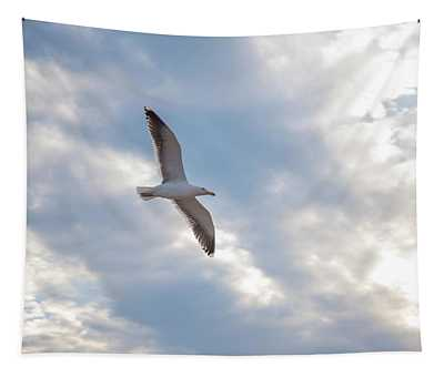 Heavenly Gull - Misquamicut Beach Tapestry