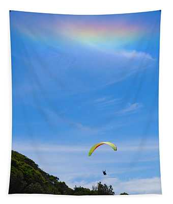 Heavenly Hang Glider Tapestry