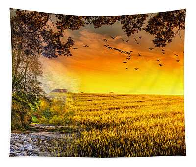 Heaven's Morning Glow Tapestry