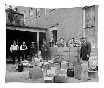 Heavily Armed Feds Seize Liquor Cache 1922 Tapestry