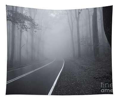 Heavy Fog Ahead Mono 2 Tapestry