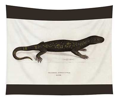 Heloderma Horridum, Beaded Lizard Tapestry