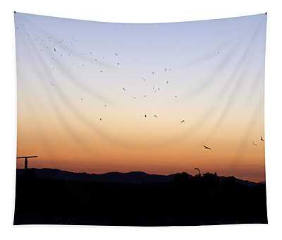 Hemet Bats At Sunset Tapestry