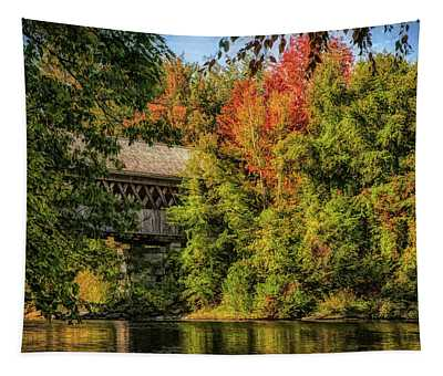 Henniker New Hampshire Covered Bridge Tapestry