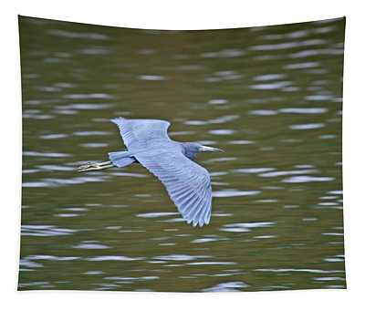 Heron In Flight Tapestry