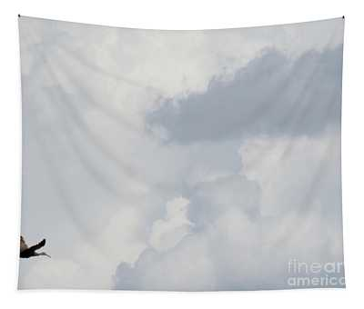Crane In The Clouds Tapestry