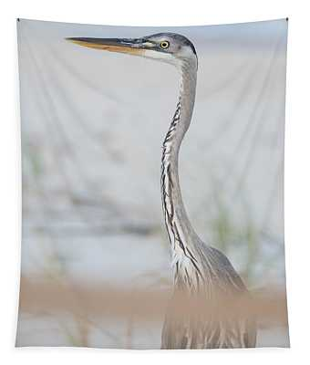 Heron On The Island Tapestry